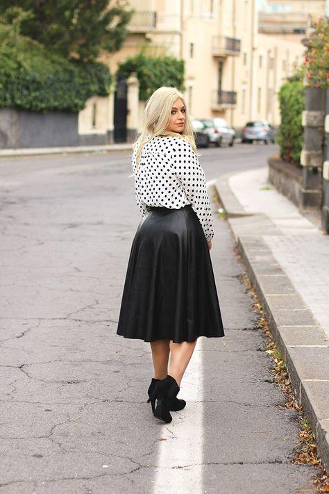 Abiti Eleganti Taglia 48.Black White Burgundy Moda Outfit Elegante
