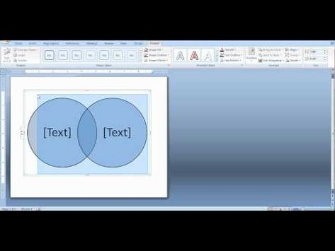 How To Create A Venn Diagram In Word And Powerpoint Youtube Year