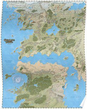 Golarion Map Pathfinder : golarion, pathfinder, Pathfinder, Golarion, Poster, Poster,, Fantasy, World