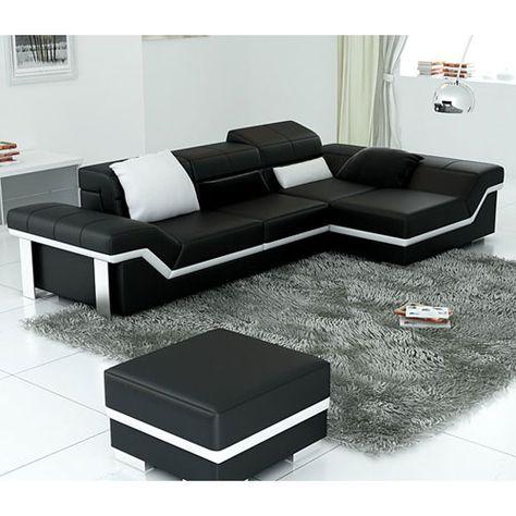 Roxanni Furniture Saturn Bonded Leather Sectional Sofa Set