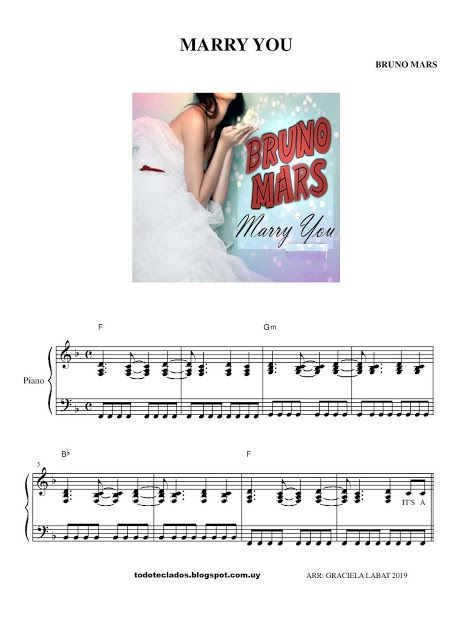 Marry You Bruno Mars Bruno Mars Partituras Letras Y Acordes