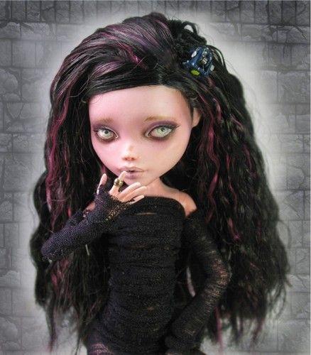 OOAK Monster High Draculaura REPAINT by Nickii Rose