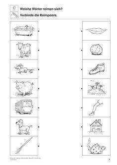Reimwörter Deutsch 1 Klasse Vorschule Reimwörter Und