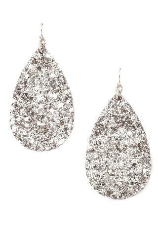 New Artsy Silver Plated White /& Light Blue CZ Hook Dangle Drop Earrings