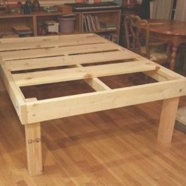 Strong And Tough Platform Bed Diy 7 Steps With Pictures Diy Platform Bed Frame Diy Platform Bed Diy Twin Bed Frame