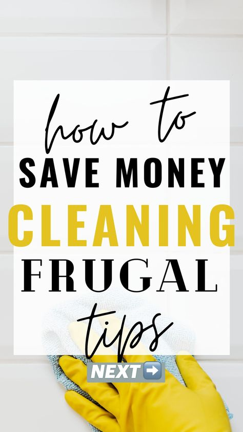 How to Save Money Cleaning Frugal Living  Frugal Lifestyle