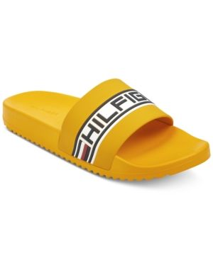 Men S Rustic Slide Sandals Men S Shoes In Yellow Tommy Hilfiger Man Tommy Hilfiger Sandals