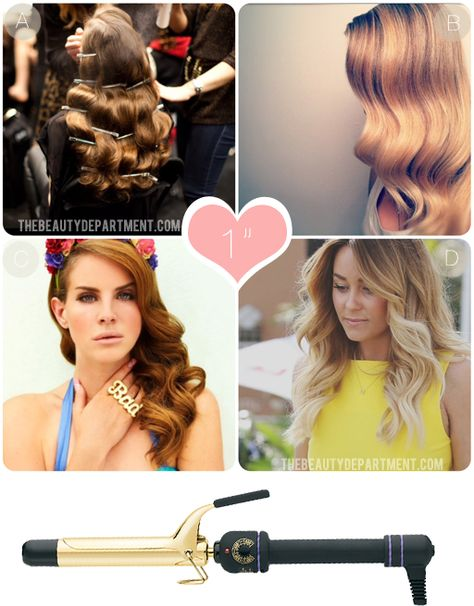 What each size curling iron can do & instructions!