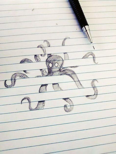 Octopus Emerging From Floorboards