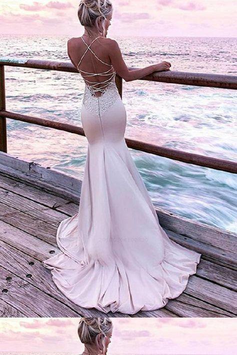 Prom Dresses Pink #PromDressesPink, Evening Dress With Appliques #EveningDressWithAppliques, Mermaid Prom Dresses #MermaidPromDresses, 2018 Prom Dresses #2018PromDresses Prom Dresses 2019