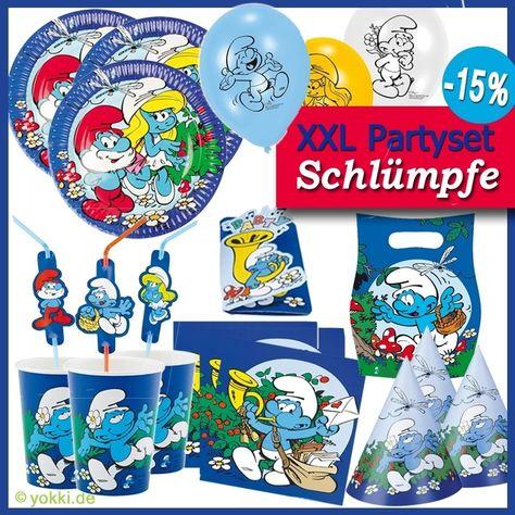 Kindergeburtstag Dekoration DIE SCHLÜMPFE