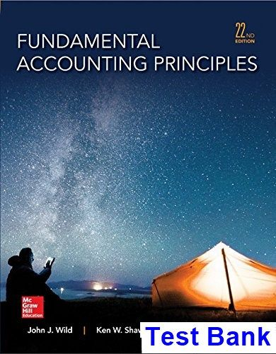 Fundamental Accounting Principles 22nd Edition Wild Test