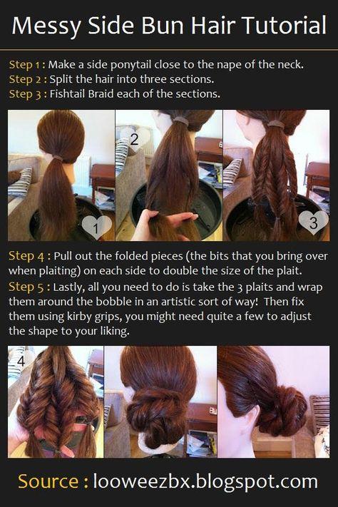 Messy Side Bun Hair Tutorial
