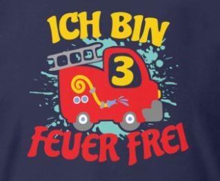 Geburtstag Jungen 3 Jahre Feuerwehr Geburtstag Kinder T Shirt