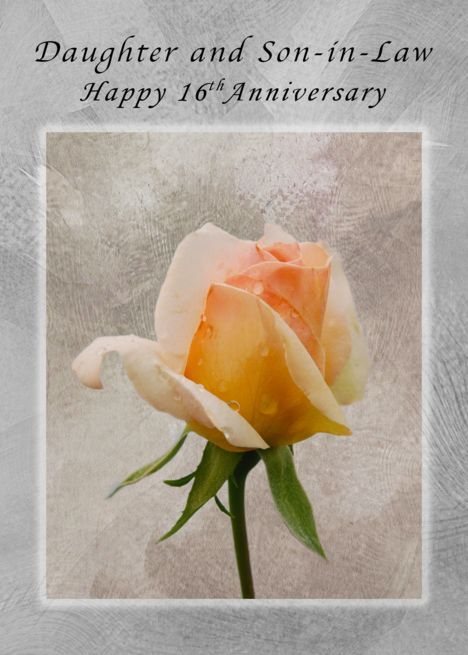 Happy 16th Anniversary For Daughter And Son In Law Fresh Rose Card Ad Sponsored An Happy 54th Anniversary Happy 41st Anniversary Happy 10th Anniversary