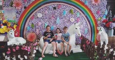 Had #the #bestest #day #with #my #big #cousins #in #bockettsfarm #today. #How #cool #is #their #unicorn #display #farm #farmplay #bockettsfarm #animals #unicorn #dragons #unicornsandrainbows #adventure #downonthefarm #familydayout #cousins #bestfriends #ilovemyfamily #haar