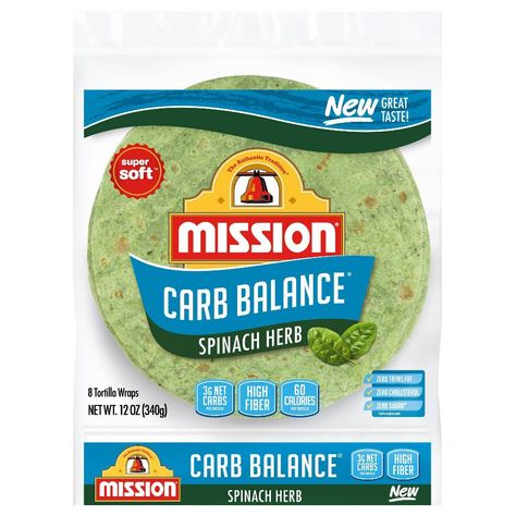Get all the details of our Carb Balance Spinach Herb Soft Taco Flour Tortillas including the ingredients list, full nutrition facts, and where to buy. Low Carb Recipes, Healthy Recipes, Protein Recipes, Bread Recipes, Healthy Foods, Spinach Tortilla, Cannelloni, Low Carb Tortillas, Flour Tortillas