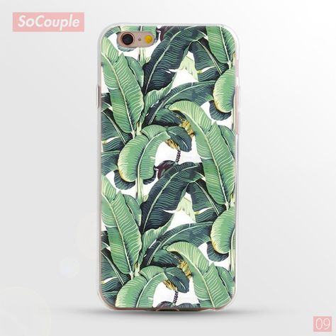 New Arrival Ultrathin Soft TPU Case for iphone 5 5s SE 6 6s 7 6plus Flowers Daisy Plants Fruit Cactus Leaves pattern Phone Case