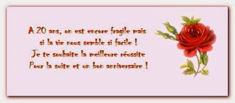 Texte Danniversaire Humoristique 20 Ans New Message