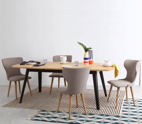 Table Salle A Manger Extensible Noir Et Bois Avec Images Table