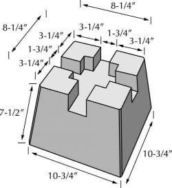 Deck Block Dimensions Building A Storage Shed Concrete Deck Blocks Building A Deck
