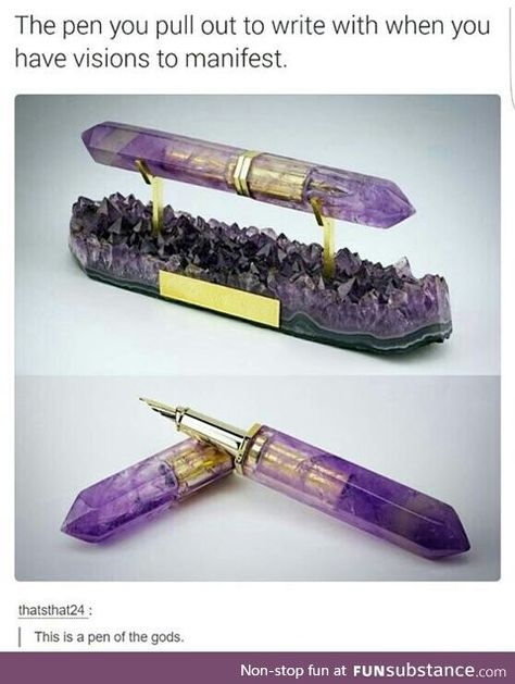 Amethyst Fountain Pen Partnership with ST Dupont Paris - so pretty, but it looks uncomfortable to use