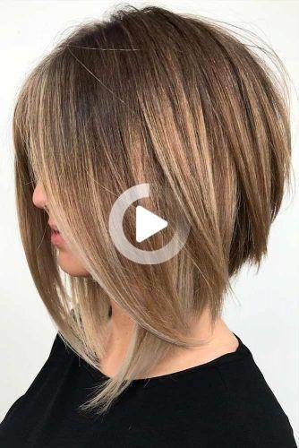 18 Coiffures De Longueur Moyenne Pour Les Cheveux Epais Coiffures De Longueur Moyenne Longueur De Cheveux Cheveux De Bobs