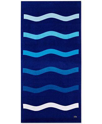 Lacoste Kane Cotton 36 X 72 Beach Towel Reviews Bath Towels