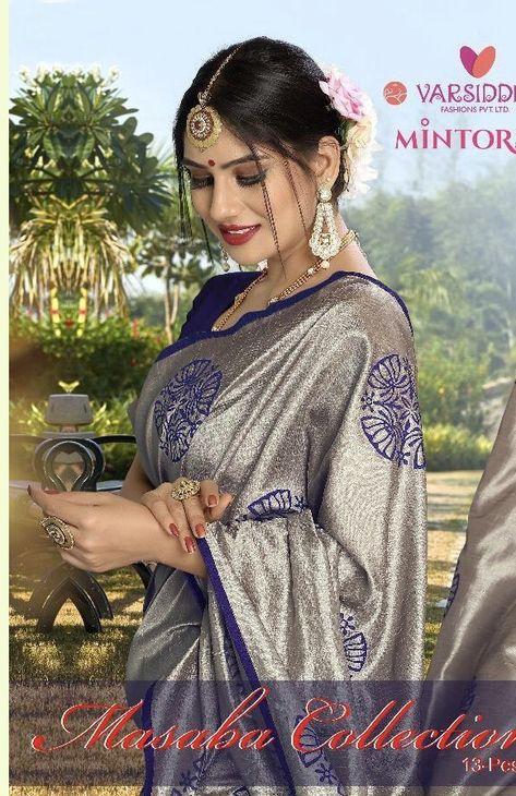 704a1f798a Triveni Noor Vol 6 Designer embroidered fancy saree latest catalogue in  surat   Kapdavilla: Keeping India's Tradition   Brand in 2019   Fancy sarees,  Saree, ...