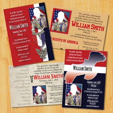 Custom Eagle Scout Court of Honor Invitations by PaulConnerStudios, $15.00