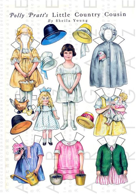 Adorable Polly Pratt paper dolls designed by Sheila Young and published the Ladies Home Journal during the Edwardian era. Very charming paper dolls great for the collector or use in your paper crafts ; scrapbooking, card making, bookmarks, place cards, Tags, invites etc. Around 11 by 7.5 inches and