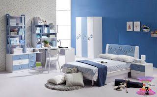 ألوان دهانات غرف أطفال 2020 بأفكار جديدة وغير تقليدية Blue Bedroom Blue Room Decor Blue Rooms