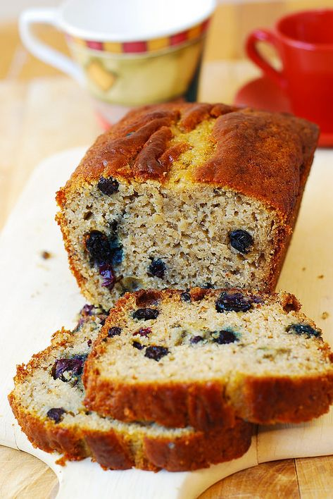 Blueberry banana bread (gluten free) A+ I made this substituting flax seed for the chia and it came out beautifully. Soft and nice texture