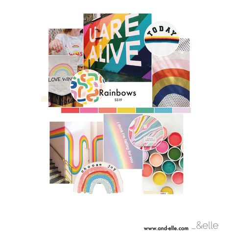 Rainbows // Homeware // Kidswear // Pattern // Conversational // Love