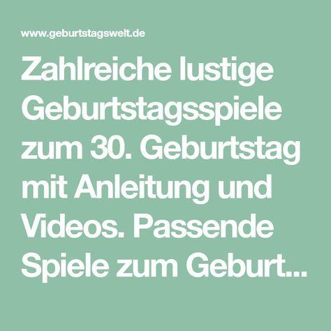 Zahlreiche Lustige Geburtstagsspiele Zum 30 Geburtstag Mit Anleitung Und Videos Passende Spiele Zum Geburtstag Spiele Geburtstag Geburtstagsspiele Geburtstag