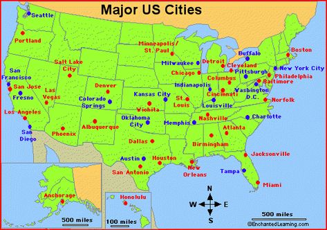 Major US Cities Travel Activities Pinterest City - Usa map with states pittsburgh