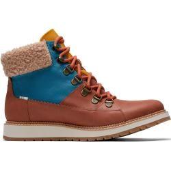 Toms Braune Wasserdichte Leder Mesa Stiefel Für Damen - Größe 41 TomsToms