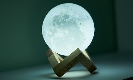 Globrite Touch Control Led 3d Or Colour Changing Moon Lamp In 2020 Lamp Led Strobe Lights