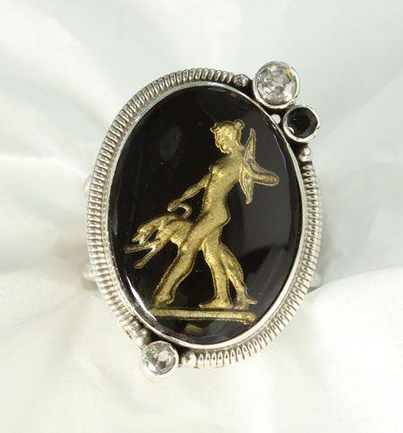 mars valentine black gold goddess diana ring mars valentine antique and vintage rings pinterest black gold goddesses and ring - Mars And Valentine