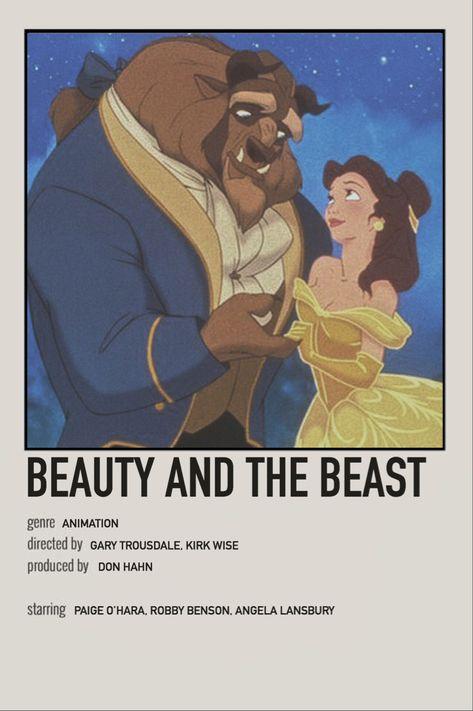beauty and the beast minimalist movie polaroid
