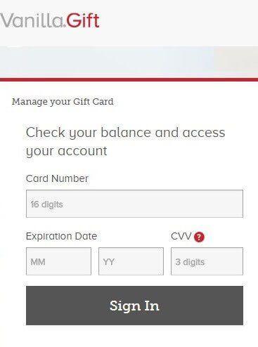 Vanilla Visa Gift Card Balance Visa Gift Card Balance Visa Gift