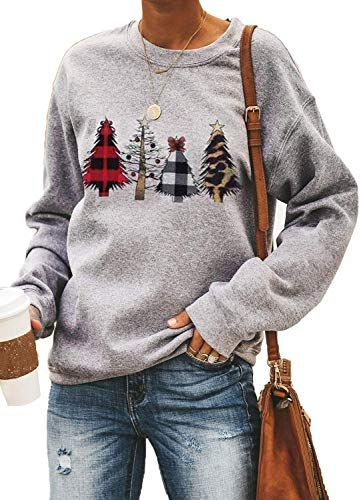 CANIKAT Womens Lightweight Crewneck Camo Print Long Sleeve Sweatshirts Loose Fit Pullovers Tops