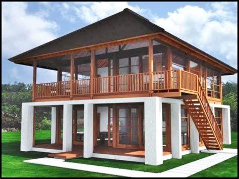 100 Wooden House Exterior 038 Interior Designs Desain Depan Rumah Arsitektur Kolonial Rumah Kayu House designs small wooden