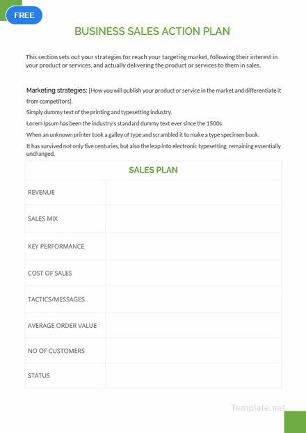 Free Business Sales Action Plan Action Plan Template How To