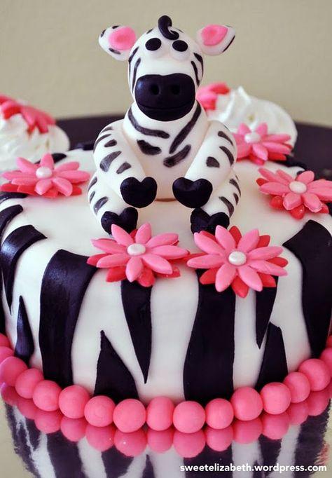 Zebra cake (so cute)!