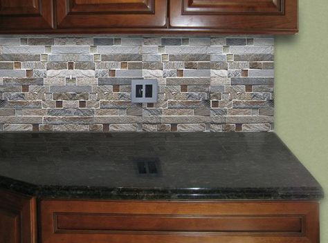 Fire And Ice Kitchen Backsplash Love The Stainless Steel Cover With Uba Tuba Pinterest Craftsman Kitchens