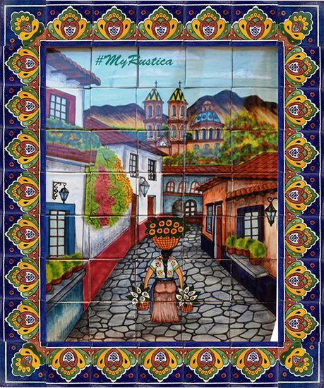 Tile Mural Flower Seller Spanish Kitchens In 2019 Tile