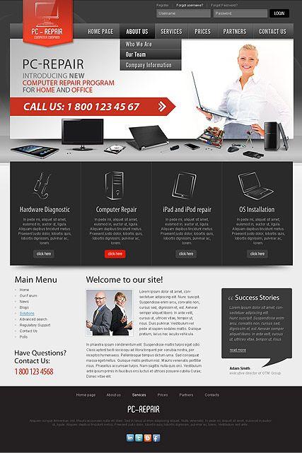 Computer Repair Website Pc Repair Computer Repair Joomla Templates