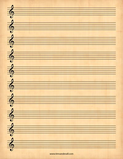 sheet music printable DIY Travel Journals Pinterest Treble - music paper template