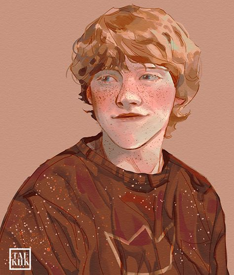 pro skills for ron Ronald Weasley, Harry Potter Artwork, Art, Harry Potter Fan Art, Weasley Aesthetic, Fan Art